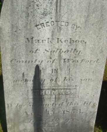 KEHOE, THOMAS - Berkshire County, Massachusetts | THOMAS KEHOE - Massachusetts Gravestone Photos