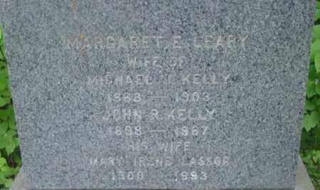 LEARY KELLY, MARGARET E - Berkshire County, Massachusetts | MARGARET E LEARY KELLY - Massachusetts Gravestone Photos