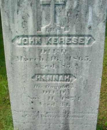 KERESEY, HANNAH - Berkshire County, Massachusetts | HANNAH KERESEY - Massachusetts Gravestone Photos