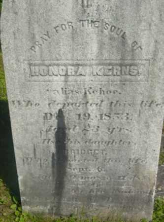 KERNS, BRIDGET - Berkshire County, Massachusetts | BRIDGET KERNS - Massachusetts Gravestone Photos