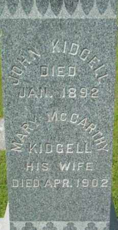 KIDGELL, JOHN - Berkshire County, Massachusetts | JOHN KIDGELL - Massachusetts Gravestone Photos