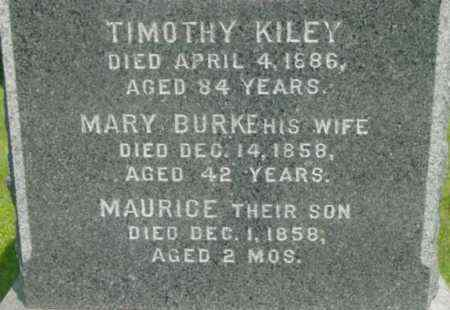 BURKE KILEY, MARY - Berkshire County, Massachusetts | MARY BURKE KILEY - Massachusetts Gravestone Photos
