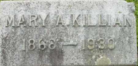 KILLIAN, MARY A - Berkshire County, Massachusetts | MARY A KILLIAN - Massachusetts Gravestone Photos