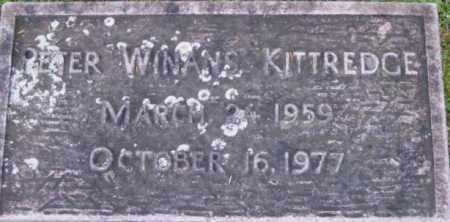 KITTREDGE, PETER WINANS - Berkshire County, Massachusetts | PETER WINANS KITTREDGE - Massachusetts Gravestone Photos
