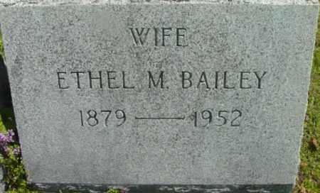 BAILEY, ETHEL M - Berkshire County, Massachusetts | ETHEL M BAILEY - Massachusetts Gravestone Photos