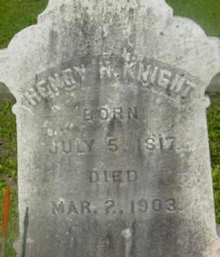 KNIGHT, HENRY H - Berkshire County, Massachusetts   HENRY H KNIGHT - Massachusetts Gravestone Photos