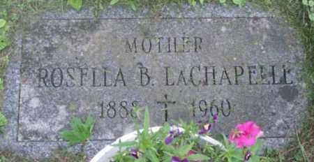LACHAPELLE, ROSELLA B - Berkshire County, Massachusetts | ROSELLA B LACHAPELLE - Massachusetts Gravestone Photos