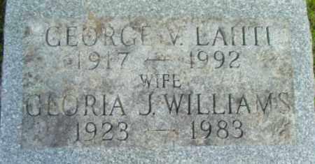 WILLIAMS, GLORIA J - Berkshire County, Massachusetts | GLORIA J WILLIAMS - Massachusetts Gravestone Photos