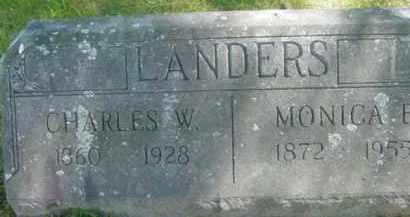 LANDERS, CHARLES W - Berkshire County, Massachusetts | CHARLES W LANDERS - Massachusetts Gravestone Photos