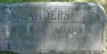 LANDERS, MONICA B - Berkshire County, Massachusetts | MONICA B LANDERS - Massachusetts Gravestone Photos