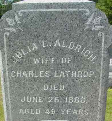 ALDRICH, JULIA L - Berkshire County, Massachusetts | JULIA L ALDRICH - Massachusetts Gravestone Photos