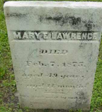 LAWRENCE, MARY E - Berkshire County, Massachusetts | MARY E LAWRENCE - Massachusetts Gravestone Photos
