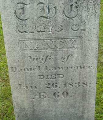 LAWRENCE, NANCY - Berkshire County, Massachusetts   NANCY LAWRENCE - Massachusetts Gravestone Photos