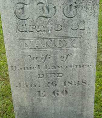LAWRENCE, NANCY - Berkshire County, Massachusetts | NANCY LAWRENCE - Massachusetts Gravestone Photos