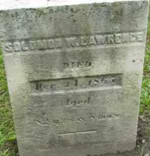 LAWRENCE, SOLOMON W - Berkshire County, Massachusetts | SOLOMON W LAWRENCE - Massachusetts Gravestone Photos