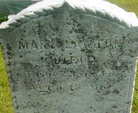 LAWTON, MARY - Berkshire County, Massachusetts | MARY LAWTON - Massachusetts Gravestone Photos