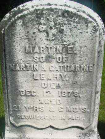 LEAHY, MARTIN E - Berkshire County, Massachusetts | MARTIN E LEAHY - Massachusetts Gravestone Photos