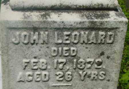 LEONARD, JOHN - Berkshire County, Massachusetts   JOHN LEONARD - Massachusetts Gravestone Photos