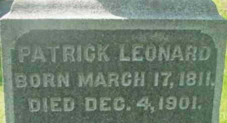 LEONARD, PATRICK - Berkshire County, Massachusetts | PATRICK LEONARD - Massachusetts Gravestone Photos