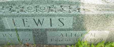 LEWIS, ALICE M - Berkshire County, Massachusetts | ALICE M LEWIS - Massachusetts Gravestone Photos