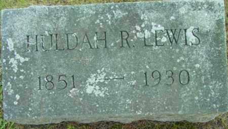 LEWIS, HULDAH R - Berkshire County, Massachusetts | HULDAH R LEWIS - Massachusetts Gravestone Photos