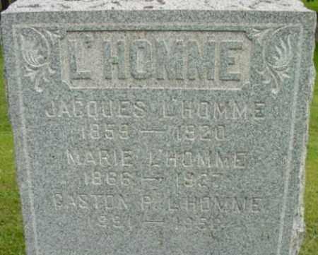 L'HOMME, JACQUES - Berkshire County, Massachusetts | JACQUES L'HOMME - Massachusetts Gravestone Photos