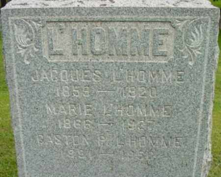 L'HOMME, GASTON P - Berkshire County, Massachusetts | GASTON P L'HOMME - Massachusetts Gravestone Photos