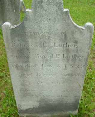 LUTHER, REBECCA C - Berkshire County, Massachusetts | REBECCA C LUTHER - Massachusetts Gravestone Photos
