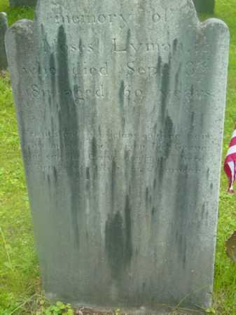 LYMAN (RW), MOSES - Berkshire County, Massachusetts | MOSES LYMAN (RW) - Massachusetts Gravestone Photos