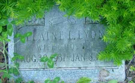 LYON, ELAINE L - Berkshire County, Massachusetts | ELAINE L LYON - Massachusetts Gravestone Photos