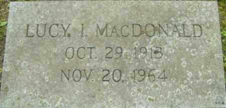 MACDONALD, LUCY I - Berkshire County, Massachusetts   LUCY I MACDONALD - Massachusetts Gravestone Photos