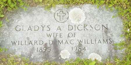 DICKSON, GLADYS A - Berkshire County, Massachusetts | GLADYS A DICKSON - Massachusetts Gravestone Photos