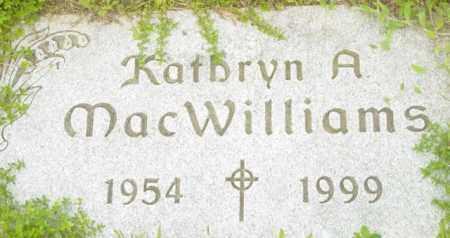 MACWILLIAMS, KATHRYN A - Berkshire County, Massachusetts | KATHRYN A MACWILLIAMS - Massachusetts Gravestone Photos