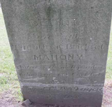 MAHONY, DENNIS - Berkshire County, Massachusetts | DENNIS MAHONY - Massachusetts Gravestone Photos