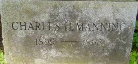 MANNING, CHARLES H - Berkshire County, Massachusetts | CHARLES H MANNING - Massachusetts Gravestone Photos