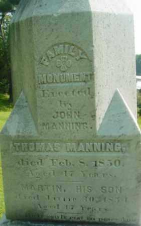 MANNING, THOMAS - Berkshire County, Massachusetts | THOMAS MANNING - Massachusetts Gravestone Photos