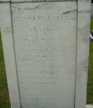 MARSH, HENRY - Berkshire County, Massachusetts | HENRY MARSH - Massachusetts Gravestone Photos