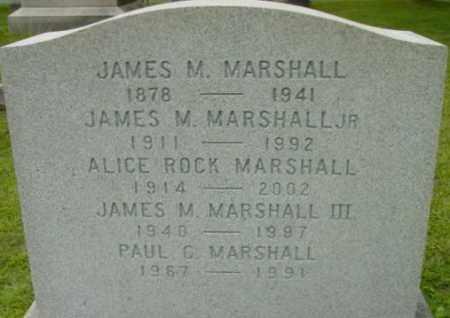 MARSHALL, JAMES M JR - Berkshire County, Massachusetts   JAMES M JR MARSHALL - Massachusetts Gravestone Photos