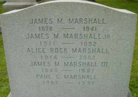 MARSHALL, JAMES M, III - Berkshire County, Massachusetts | JAMES M, III MARSHALL - Massachusetts Gravestone Photos