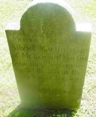 MARTIN, SIBBEL - Berkshire County, Massachusetts | SIBBEL MARTIN - Massachusetts Gravestone Photos