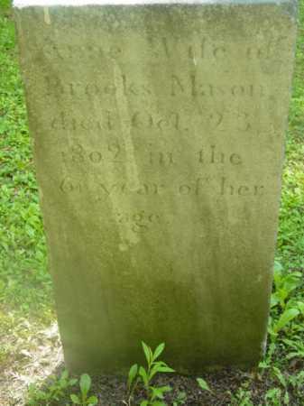 MASON, ANNE - Berkshire County, Massachusetts | ANNE MASON - Massachusetts Gravestone Photos