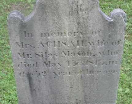 MASON, ACHSAH - Berkshire County, Massachusetts | ACHSAH MASON - Massachusetts Gravestone Photos