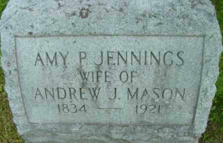 MASON, AMY P - Berkshire County, Massachusetts | AMY P MASON - Massachusetts Gravestone Photos