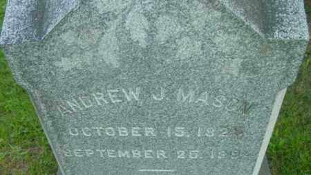 MASON, ANDREW J - Berkshire County, Massachusetts | ANDREW J MASON - Massachusetts Gravestone Photos