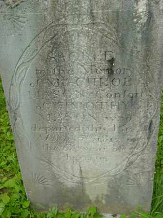 MASON, CHLOE - Berkshire County, Massachusetts | CHLOE MASON - Massachusetts Gravestone Photos
