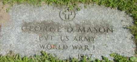 MASON, GEORGE D - Berkshire County, Massachusetts | GEORGE D MASON - Massachusetts Gravestone Photos