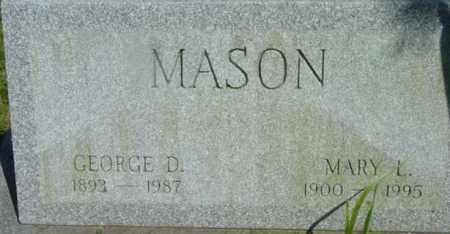 MASON, MARY L - Berkshire County, Massachusetts | MARY L MASON - Massachusetts Gravestone Photos