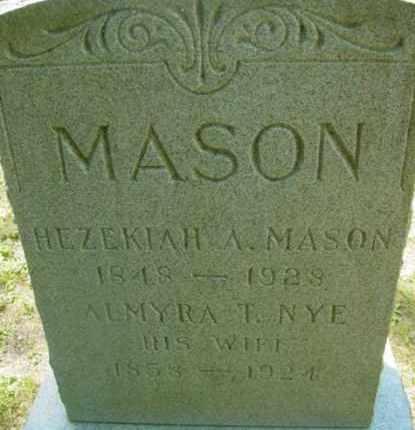 MASON, ALMYRA T - Berkshire County, Massachusetts | ALMYRA T MASON - Massachusetts Gravestone Photos
