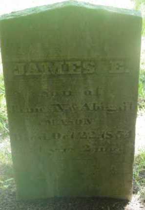 MASON, JAMES E - Berkshire County, Massachusetts | JAMES E MASON - Massachusetts Gravestone Photos
