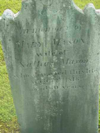 MASON, MARY - Berkshire County, Massachusetts | MARY MASON - Massachusetts Gravestone Photos